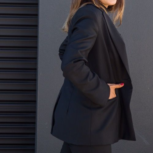 Tailored suit jacket for women. Ethically crafted from superfine Australian Merino wool.