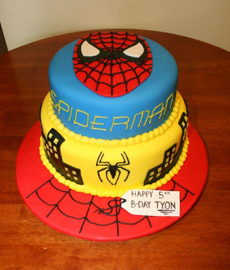 Black spider man cake