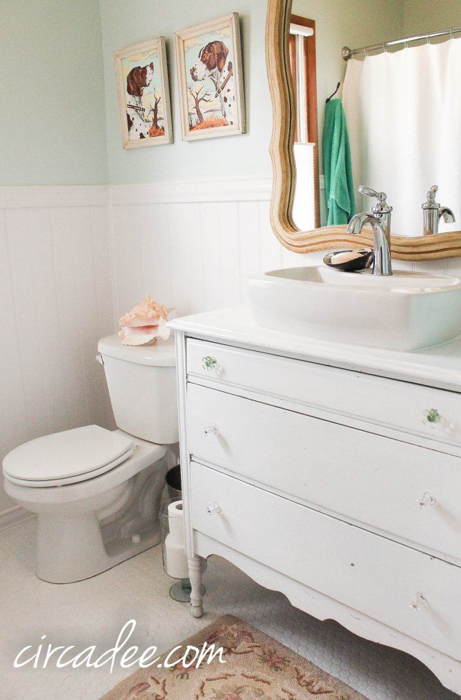 1000 images about old dresser turns into bathroom vanity for Cottage bathroom ideas renovate