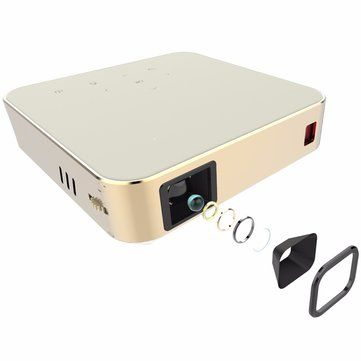 ELEGIANT Mini HDMI Home Theater Pocket HD Dual-Band WIFI Built-in Speaker Smart Projector Android