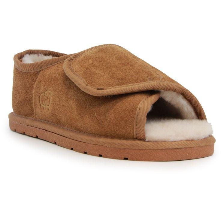 Lamo Lady's /Sheepskin Open-toe Wrap Slippers