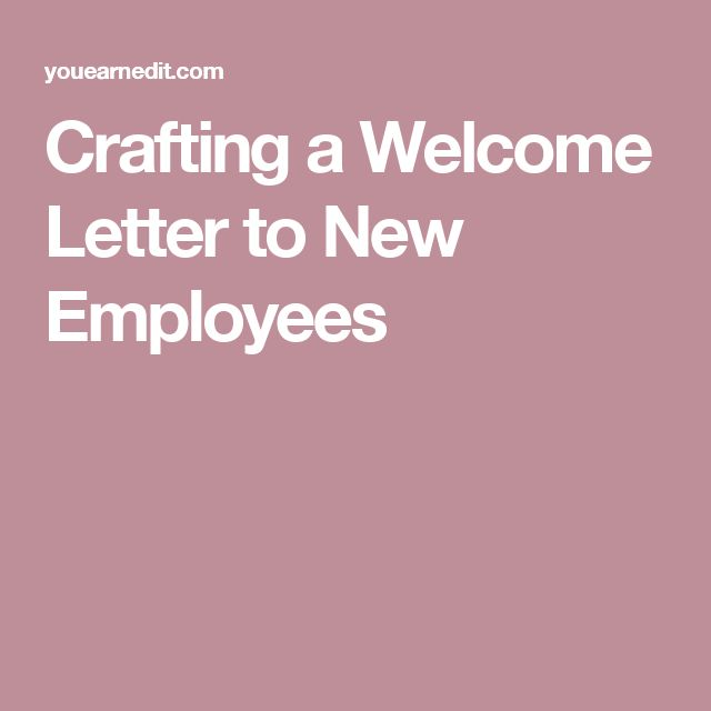 Crafting a Welcome Letter to New Employees