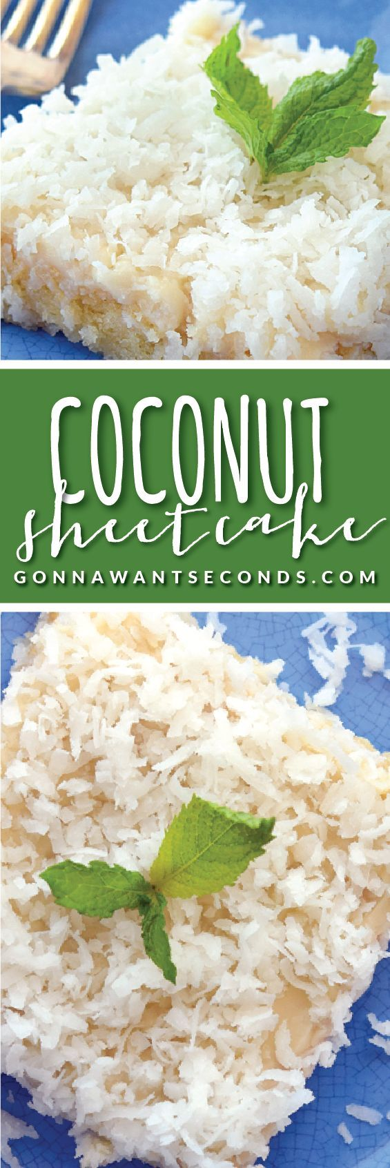 Incredibly delicious, super moist, Coconut Sheet Cake topped with a perfect Coconut frosting.
