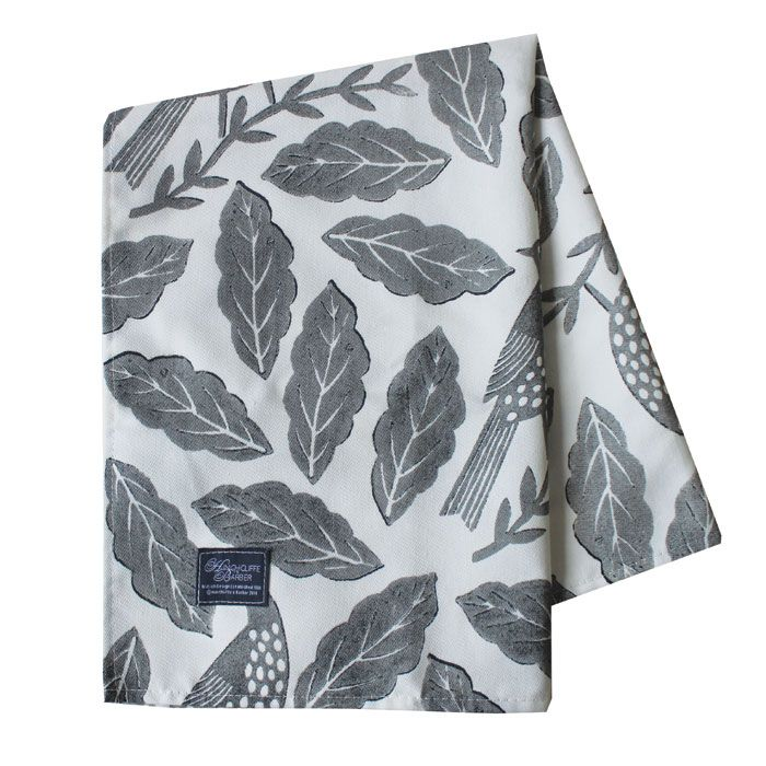 Songbird Grey Tea Towel 267059R