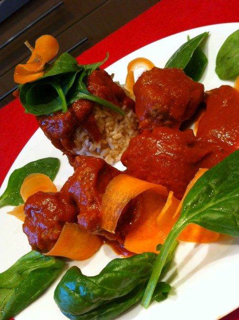 Moroccan Meatballs made and food styled by my 11 year old ...