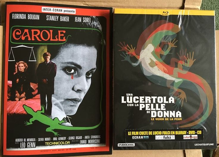"Una lucertola con la pelle di donna / A Lizard in a Woman's Skin (""Le Chat qui Fume"" French 3x disc set DVD, Blu-ray and CD soundtrack with limited booklet)"