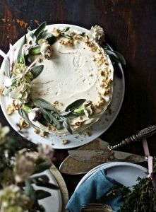 Golden Beet Cake with Brown Butter Sage Frosting | STEMS & FORKS