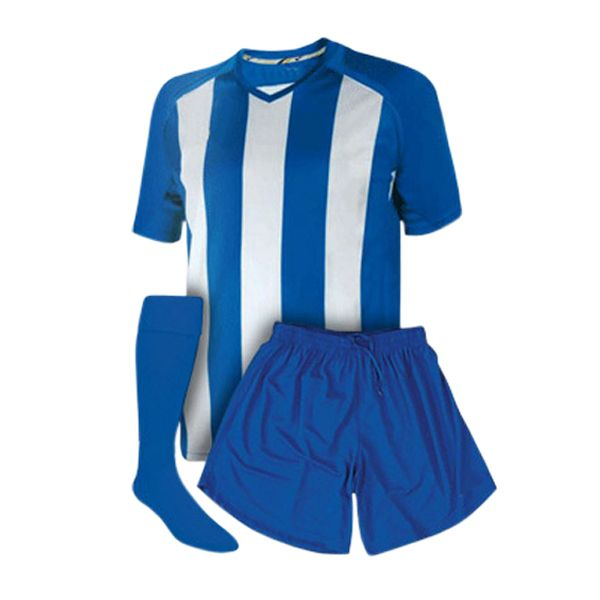 Aoxiang Soccer Kits consists of jersey and shorts made form 100%polyester and socks made from cotton and nylon. Simple white and blue classic collocation, flesh and nature. http://www.axfz86.com/Products/SoccerSportswear.html