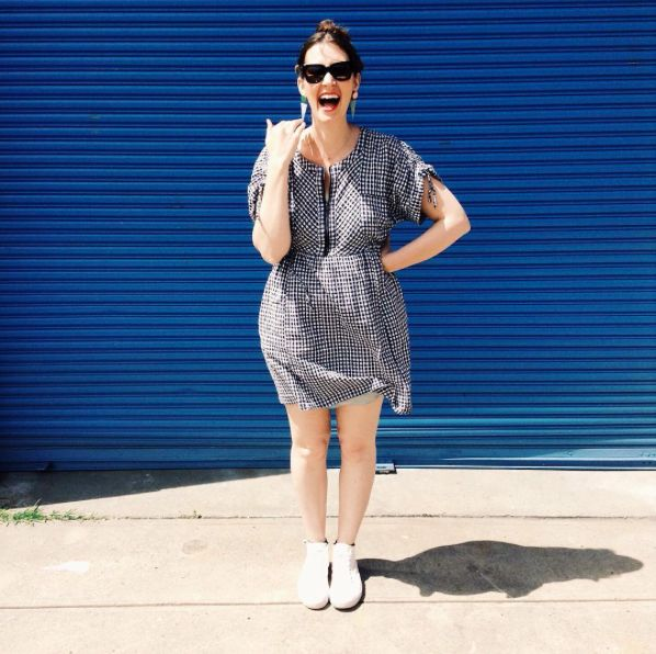 Frocktober day 3 - read more on the blog -   http://pottymouthmama.blogspot.com.au  #gingham #fashion #style