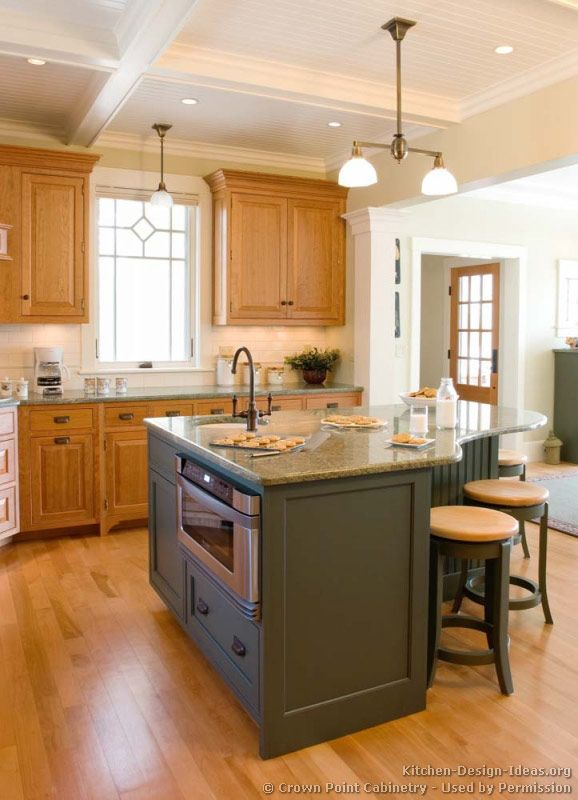 Another Large Gallery Of Custom Kitchen Islands Handcrafted By Crown Point  Cabinetry
