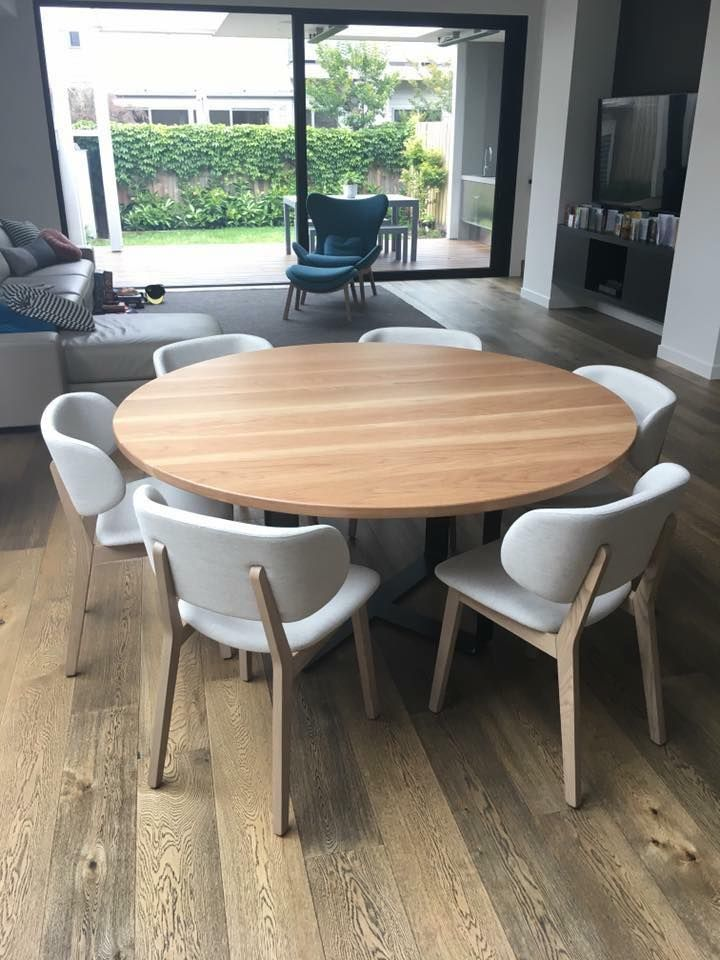 Round Timber Dining Table Tables