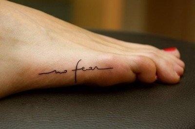 foot #tattoo . #nofear #foot