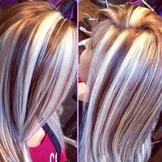 Chunky Highlights Lowlights Hair Pinterest
