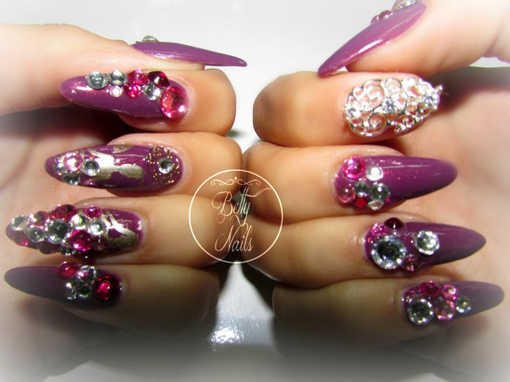 Betty Nails: Pure Ice - Purple Rain BLING