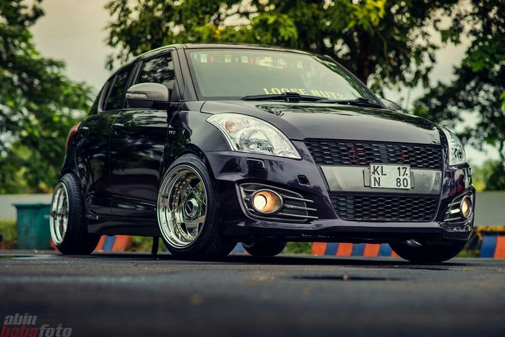 Black Modified Maruti Swift Cars lover