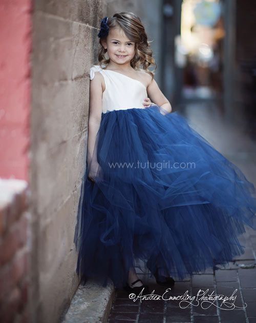 One Shoulder Strap Tutu Dress | Flower Girl Gown