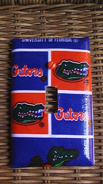 Florida Gators Light Switch Toggle Cover Plate And By QuillowShop, $11.00
