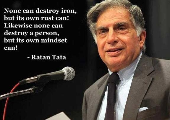 None can destroy iron, but its own rust can@! Likewise none can destroy a person, but its own mindset can!