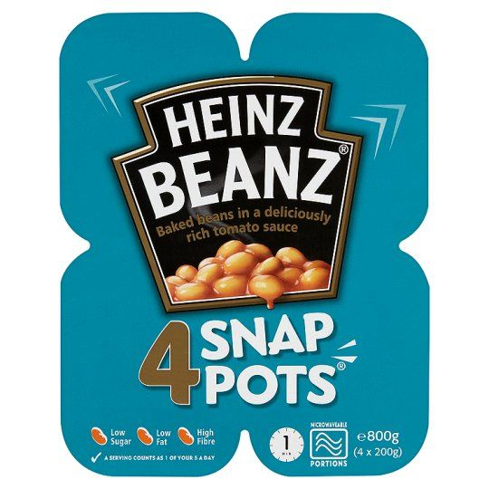 Heinz Baked Beans Snap Pots 4X200g - Groceries - Tesco Groceries