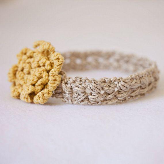 Instant download - Crochet PATTERN (pdf file) - Sun Flower Headband (sizes…