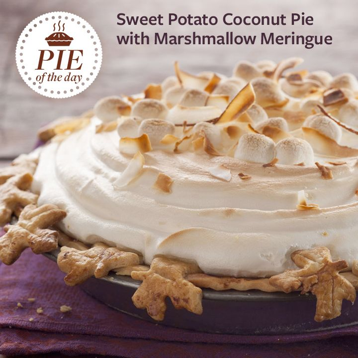 Sweet Potato Coconut Pie with Marshmallow Meringue | Recipe | Sweet ...