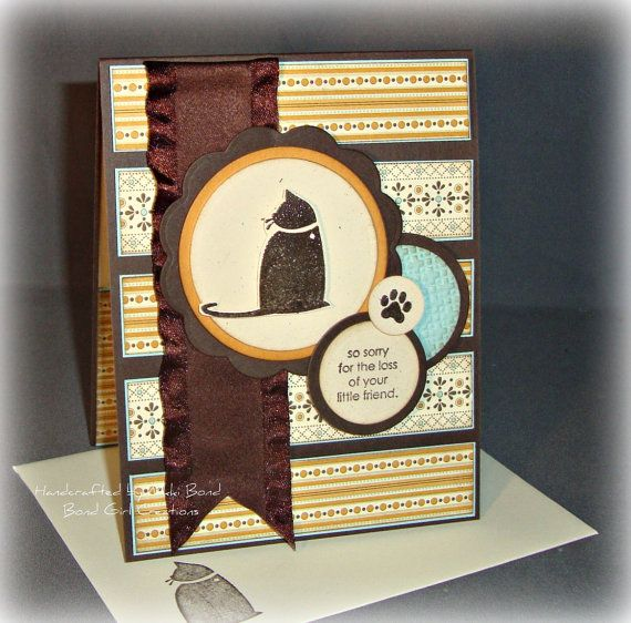 Cat sympathy card: Pet Sympathy, Handmade Sympathy Cards, Cards Ideas, Cat Sympathy, Pet Cards, Cards Pet, Dogs Cards, Cards Sympathy, Paper Crafts