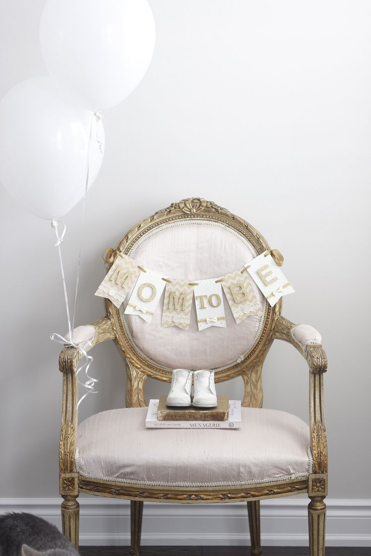 Mom to Be Chair Banner Decor for Baby Shower by Paige Smith Designs