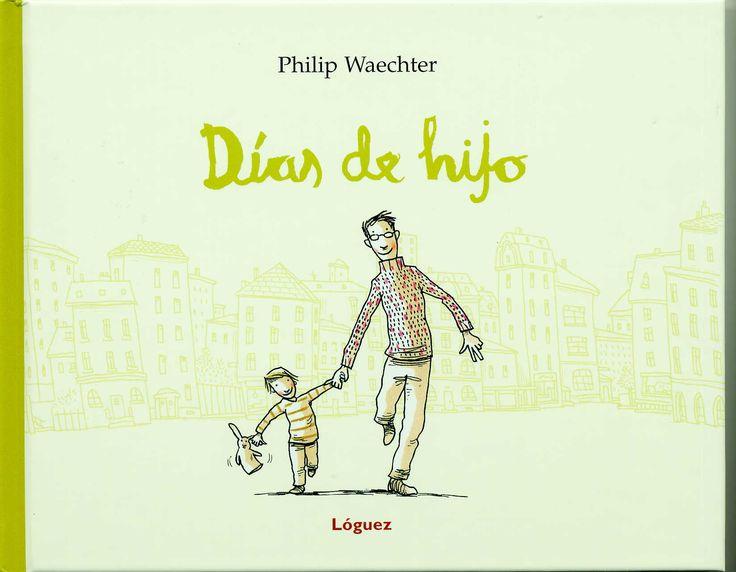 """http://www.loguezediciones.es/libro/ver_libro_novedades?id=219  Con humor e ironía, Philip Waechter nos narra la casi increíble suerte de ser padre. Nos presenta al padre """"primerizo"""" para el que de pronto todo es un pequeño milagro, que se emociona ante cosas profanas como cambiar los primeros pañales, los primeros dolores de tripa o la """"guerra"""" con la remolacha roja."""