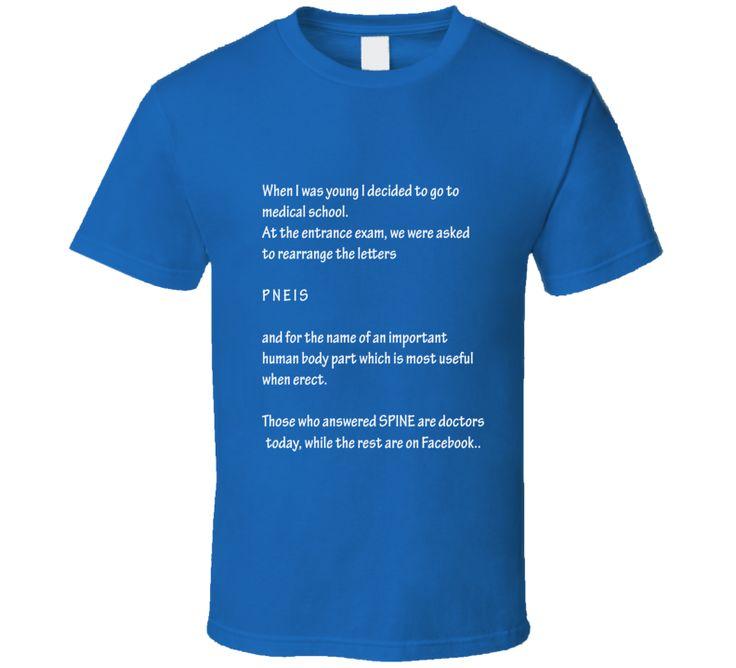 Facebook ruined my life funny t shirt medical entrance exam funny socail media shirts