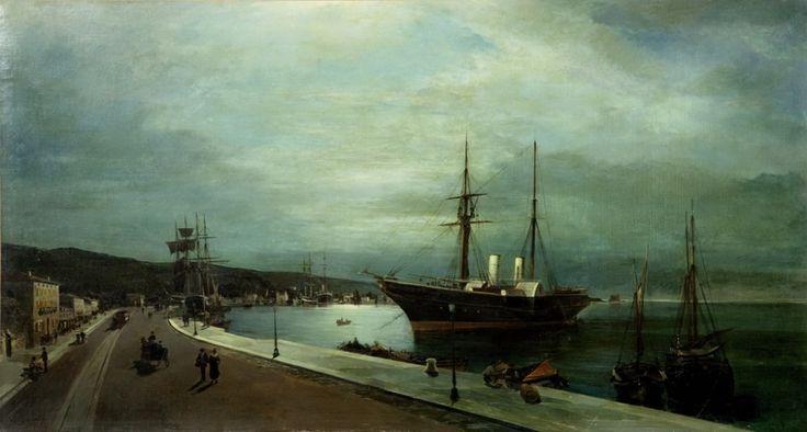 """Φεγγαρόλουστο λιμάνι του Βόλου-  Κωνσταντίνος Βολανάκης: """"Ο πατέρας της θαλασσογραφίας"""". Έργα του πουλήθηκαν έως 2 εκ. ευρώ. Στην κηδεία του παρευρέθησαν μόνο 5-6 άτομα"""