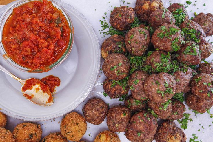 Meatballs with Mint and Garlic - Rachael Ray