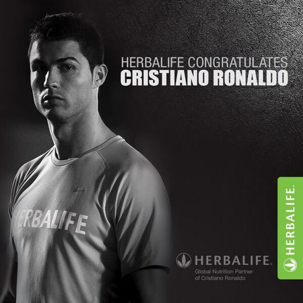Felicidades a Cristiano Ronaldo por los éxitos cosechados en la temporada 2013-2014 con el patrocinio de Herbalife