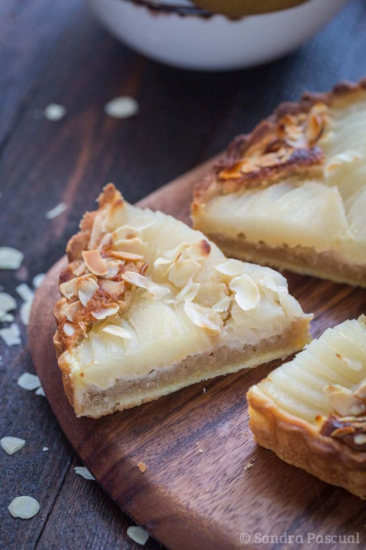 """Tarte bourdaloue"" french pear pie"