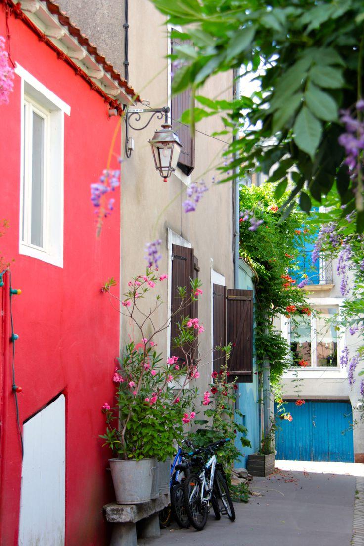 Trentemoult, a former fishing village. Nantes, Pays de la Loire, France