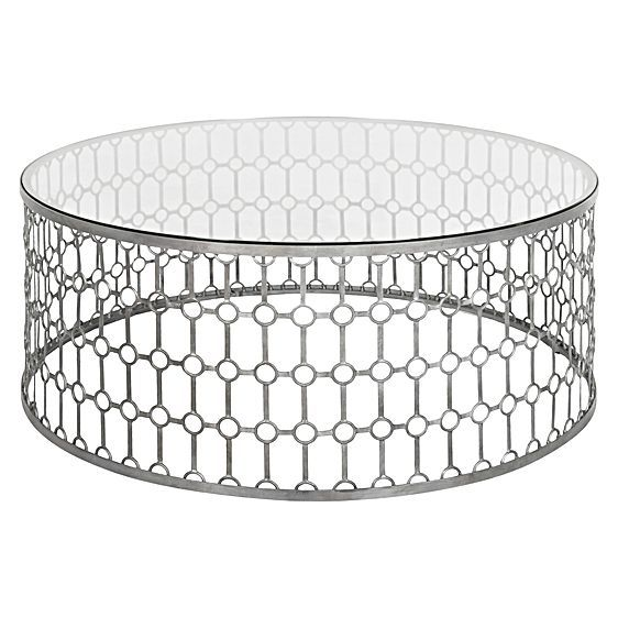 Create a sophisticated attitude in your lounge room with the Industria Lattice Coffee Table from GLOBE WEST, its frame design offering a unique elegance.