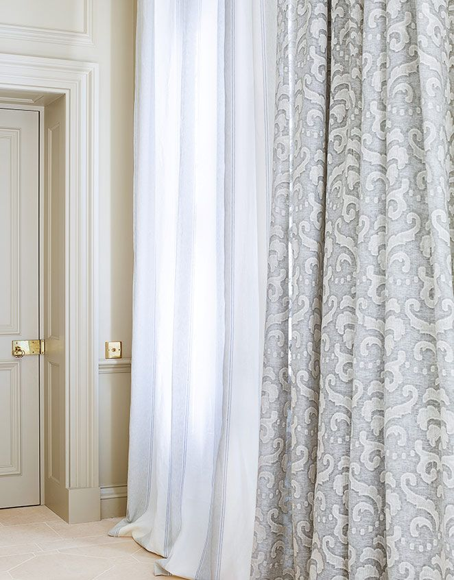 331 best images about tissus fabrics on pinterest for Painting sheer curtains