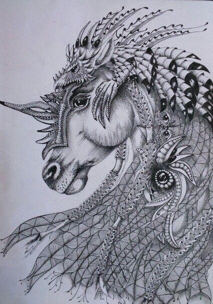Elven Horse,  shading finished