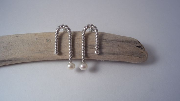 Alexandra Astafeva. Silver Earrings. Pearls.
