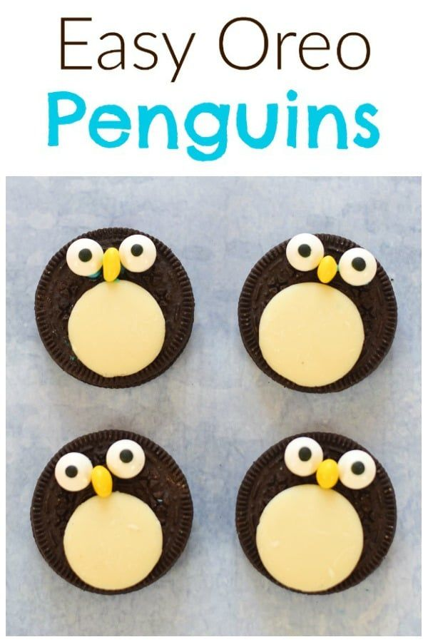 Quick and easy oreo penguins recipe - a fun festive snack or treat for kids or a cute edible topper for Christmas… | Fun winter dessert, Winter snack, Fun kids food