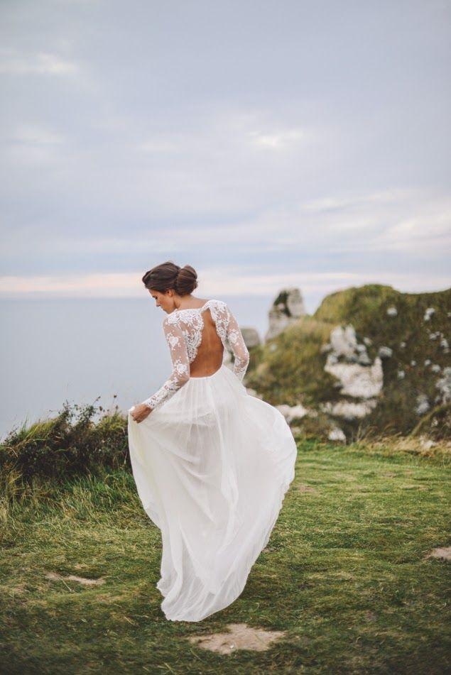 robe de mariée dos nu Mademoiselle de guise Paris 2015
