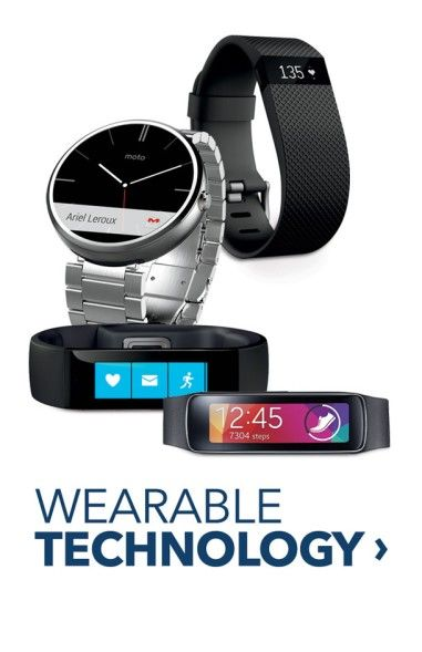 Wearable Technology. Activity trackers and smart watches.