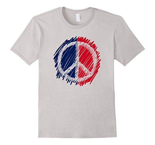 Vintage Peace Sign Symbol Patriotic 4th of July T shirt
