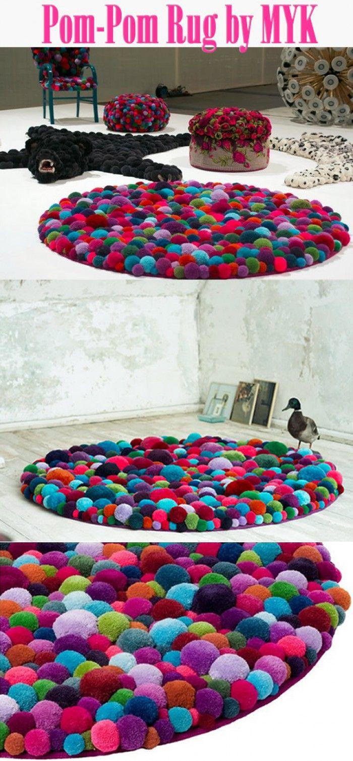 Pom-pom tapijt