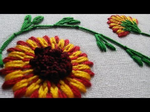 Hand Embroidery Stitch | Buttonhole Bar Stitch | HandiWorks #28 - YouTube