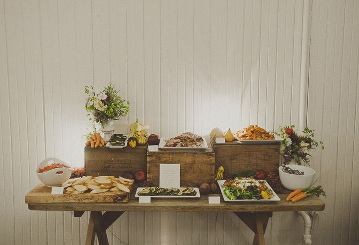 Buffet setting focused on the quality of food rather than the extravagance of the display.  Kinfolk, Ameris Photography