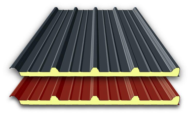 40 mm Sandwichplatten Dach | 1. WAHL 1.Wahl Qualität mit B3-PUR Schaum RAL 3009 oder RAL 7016 Längen 6 Meter, 7 Meter oder 8 Meter Paneele können verwendet werden als: Decke / Zwischendecke Dacheindeckung...