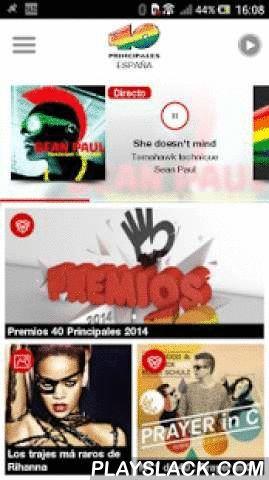 """Los 40 Principales Radio  Android App - playslack.com ,  Descargate la nueva aplicación de Los 40 Principales Radio. Nuevo diseño y nuevos contenidos. Despertador 40, playlist, alertas, noticias, vídeos, audios, programación y por supuesto la lista 40. Escucha en directo además de Los 40 España, Los 40 Argentina, Chile, Colombia, México ,Panamá y Costa Rica.Política de cookies: http://www.prisa.com/es/pagina/politica-de-cookies/"""" Descargate the new application of Top 40 Radio. New design and…"""