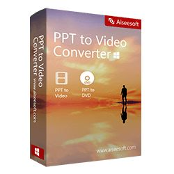 Aiseesoft PPT to Video Converter review & free download. Get Aiseesoft PPT to Video Converter registration code with 60% Off Coupon. Aiseesoft PPT to Video Converter to help you convert PowerPoint 1997, 2000, 2002, 2003, 2007, 2010, 2013 to various video formats like WMV, MP4, AVI, FLV, MOV and more & DVD