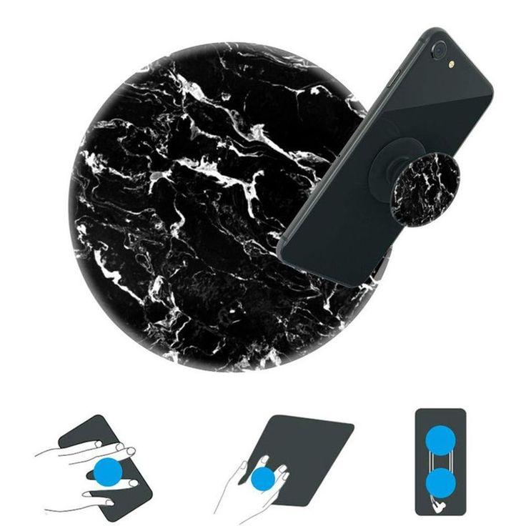 Coque Marbre Noir Avec Support À L'arrière Pour Iphone Xr – Taille : Taille Unique