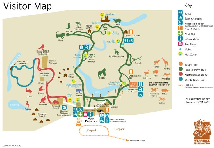 Zoo map | Zoos Victoria